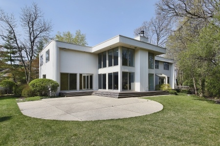 7809852 - rear view of contemporary home with patio